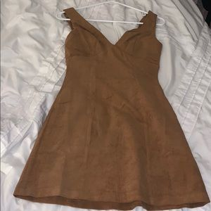 Never worn lulus corduroy yellow dress